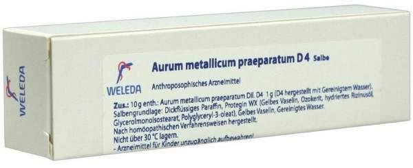Weleda Aurum metallicum praeparatum D 4 25 g Salbe