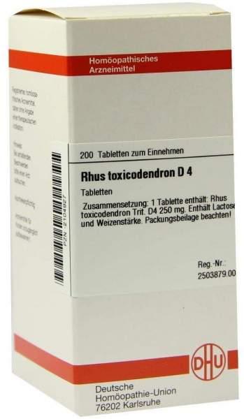 Rhus Toxicodendron D 4 200 Tabletten
