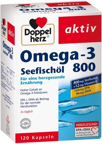 Doppelherz Omega-3 Seefischöl 800 aktiv 120 Kapseln