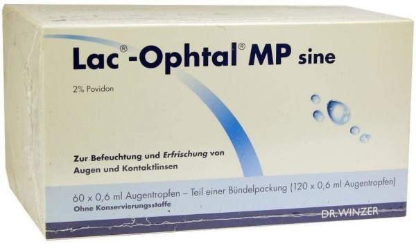 Lac Ophtal Mp Sine 120 X 0,6 ml Augentropfen