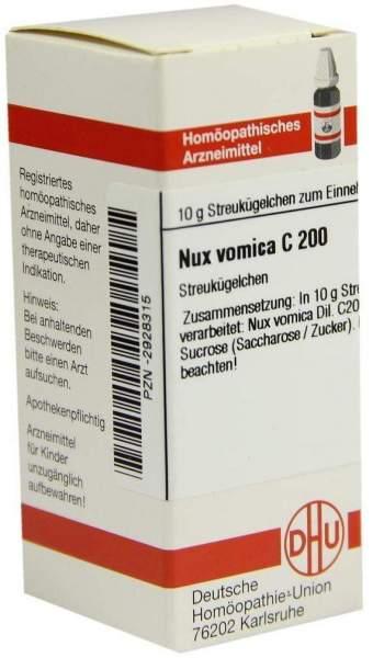 Nux Vomica C 200 10 G Globuli