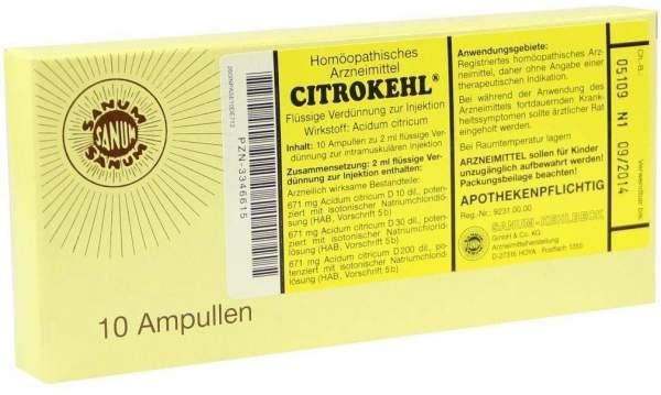 Citrokehl 10 X 2 ml Ampullen