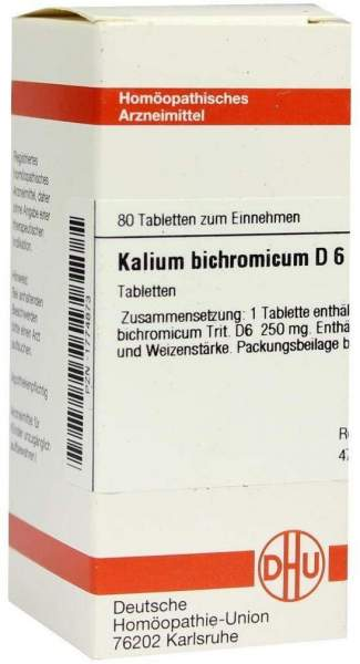 Kalium Bichromicum D 6 80 Tabletten