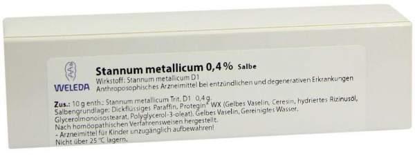 Weleda Stannum Metallicum 0,4% Salbe 25 G