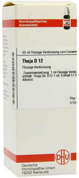 Thuja D12 Dilution 50 ml Dilution