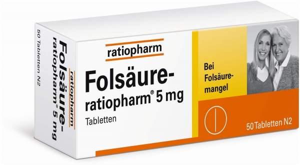 Folsäure-ratiopharm 5 mg 50 Tabletten