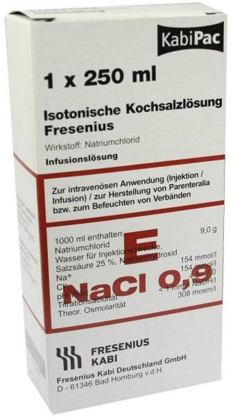Kochsalzlösung 0,9 % Plastikflasche Fresenius 250 Ml...