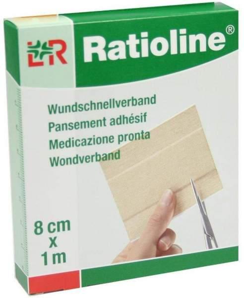 Ratioline Elastic Wundschnellverband 8 cm x 1 m 1 Packung