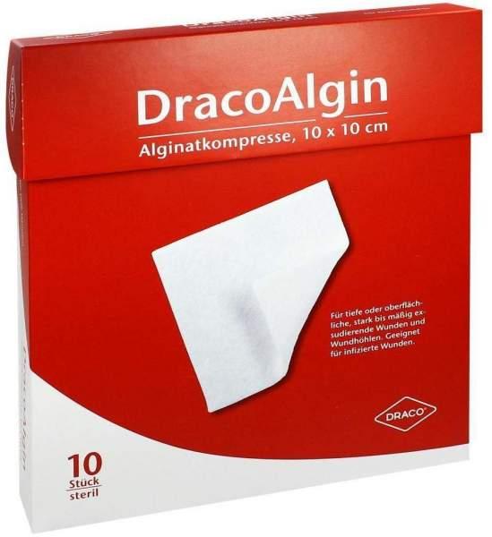 Dracoalgin 10 x 10cm Alginat 10 Kompressen