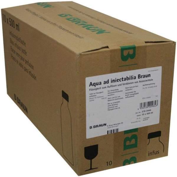 Aqua Ad Injectabilia Braun 10 X 500 ml Infusionslösung