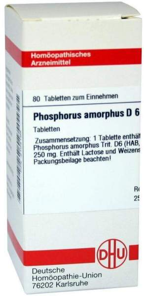 Phosphorus Amorphus D6 80 Tabletten