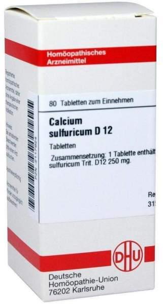 Calcium Sulfuricum D12 80 Tabletten