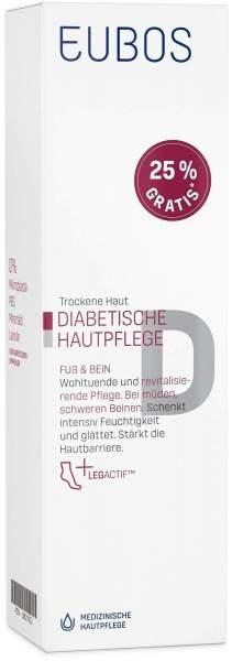 Eubos Diabetische Hautpflege Fuß und Bein 100 ml Creme + gratis 25 ml