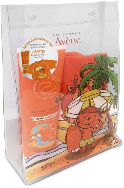Avene SunSitive Kinder SPF 50+ 250 ml Sonnenmilch + gratis UV Shirt 18,5 x 26,5 cm