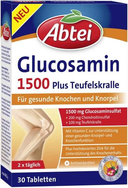 Abtei Glucosamin 1500 Plus Teufelskralle 30 Tabletten