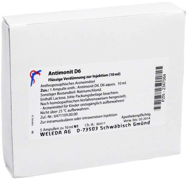 Antimonit D 6 Ampullen Weleda 5 X 10 ml