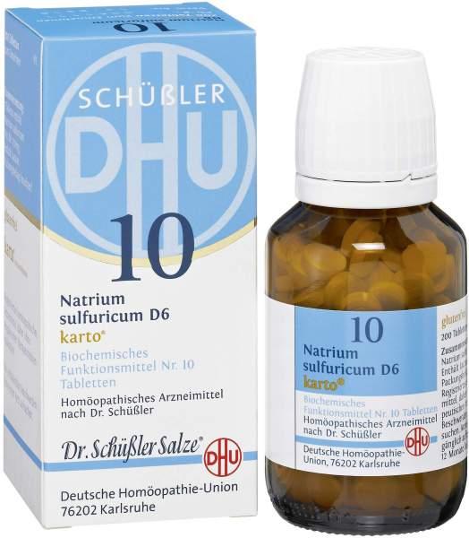 Biochemie Dhu 10 Natrium Sulfuricum D 6 Karto 200 Tabletten