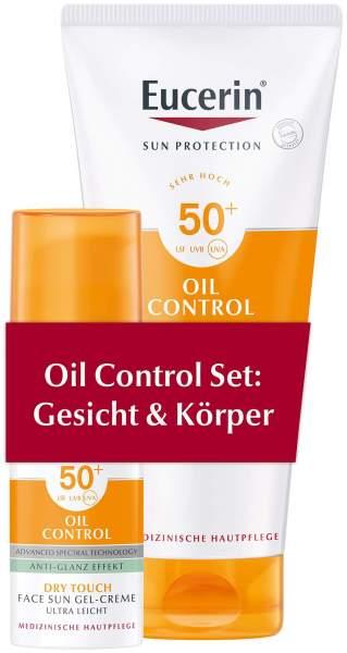 Eucerin Sun Oil Control Set Gesicht 50 ml + Körper 200 ml LSF 50+ 1 Set