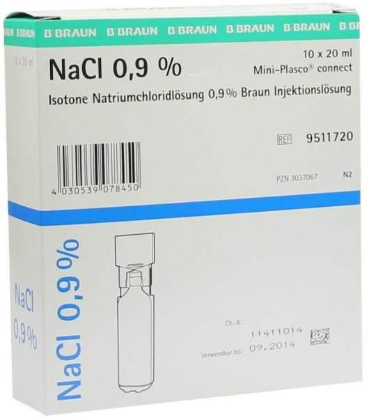 Kochsalzlösung 0,9% Miniplasco Connect 10 X 20 ml