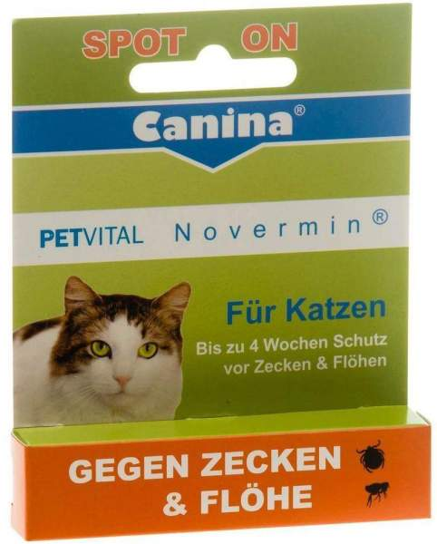 Petvital Novermin Flüssig Für Katzen 2 ml Flüssigkeit