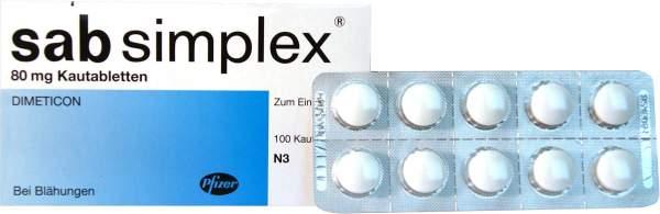 Sab simplex 100 Kautabletten