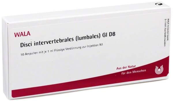 Wala Disci Intervertebrales Lumbales Gi D8 10x1ml Ampullen