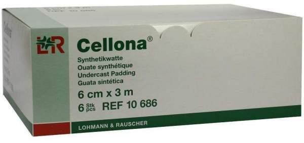 Cellona Synthetikwatte 6 cm X 3 M Rolle 6 Rollen