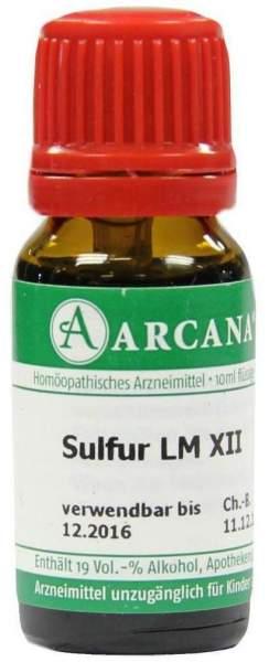 Arcana Sulfur Lm 12 Dilution Verdünnung 10ml