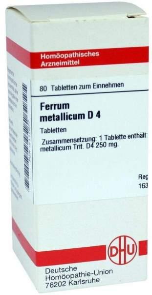 Ferrum Metallicum D4 80 Tabletten