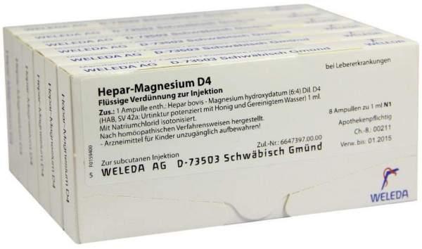 Weleda Hepar-Magnesium D4 48 X 1 ml Ampullen