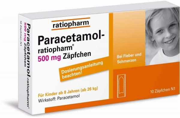 Paracetamol-ratiopharm 500 mg 10 Zäpfchen