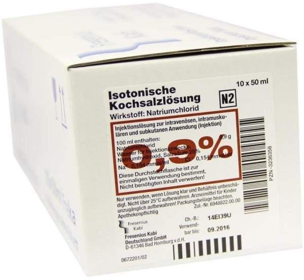 Isotonische Kochsalzlösung 0,9 % 10 X 50 ml