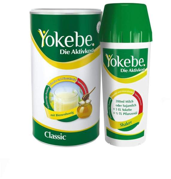 Starterpaket Yokebe classic 500 g Pulver inklusive Shaker