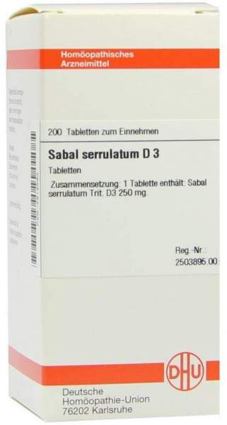 Sabal Serrulatum D 3 200 Tabletten