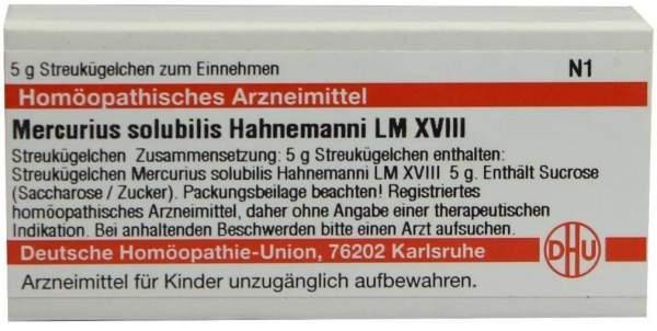 Dhu Mercurius Solubilis Hahnemanni Lm Xviii Globuli