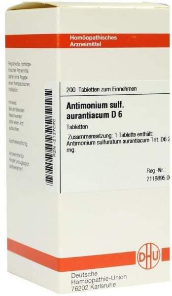 Dhu Antimonium Sulfuricum Aurantiacum D6 200 Tabletten