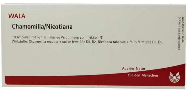 Chamomilla Nicotiana Ampullen