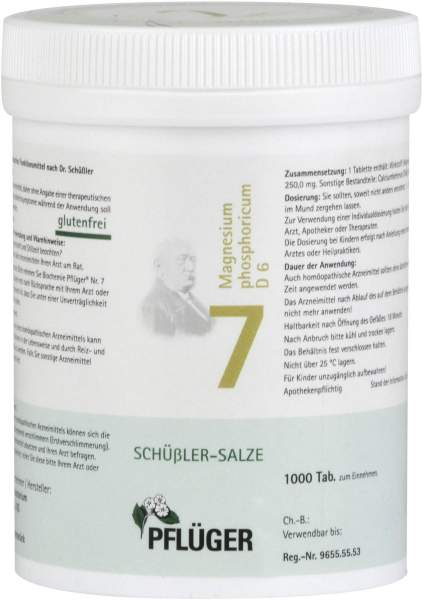 Biochemie Pflüger 7 Magnesium phosphoricum D6 1000 Tabletten