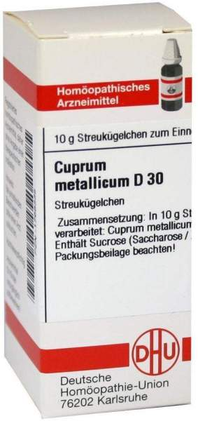 Cuprum Metallicum D30 10 G Globuli