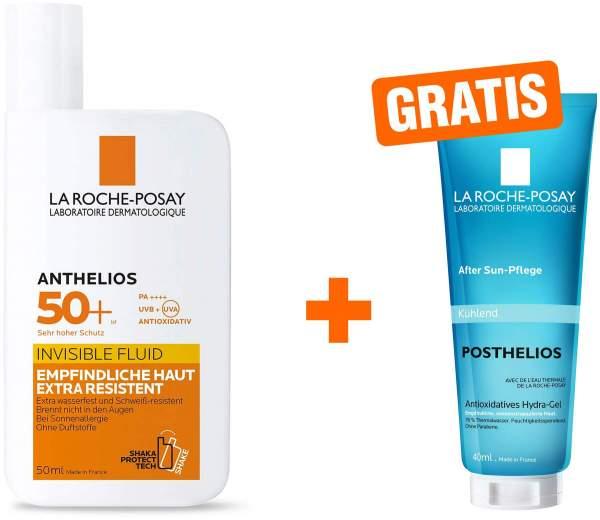 La Roche Posay Anthelios Invisible Fluid 50+ 50 ml + gratis Posthelios 40 ml Creme