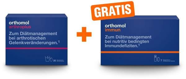 Orthomol Arthroplus 30 Beutel Granulat + 60 Kapseln + gratis Orthomol Immun 7 Trinkfläschchen