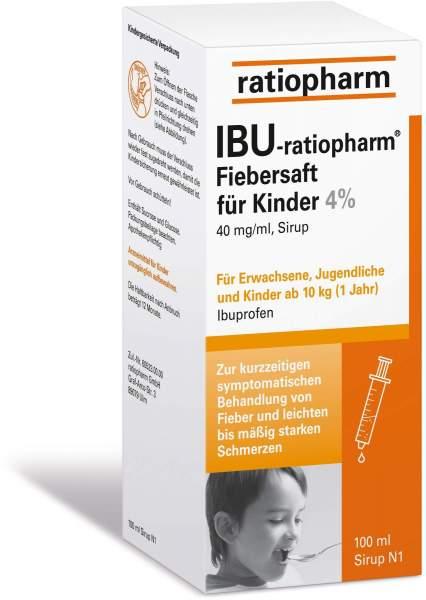 IBU-ratiopharm Fiebersaft für Kinder 4% 100 ml Saft