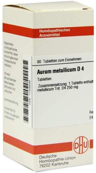 Aurum Metallicum D4 Tabletten 80 Tabletten