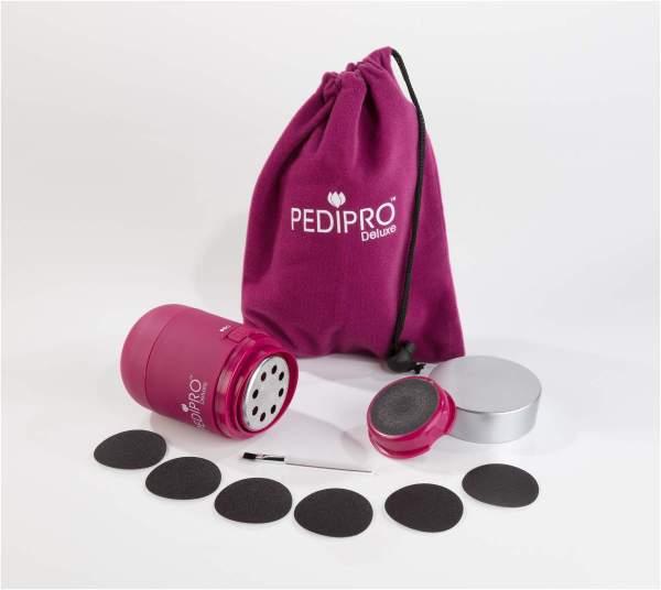 PEDIPRO Deluxe elektrischer Hornhautentferner 12 teilig