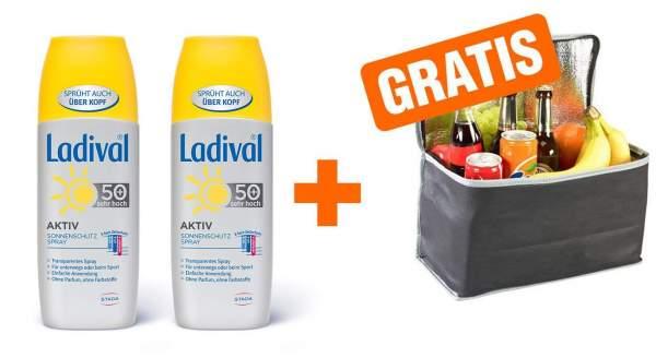 Ladival Aktiv Spray LSF 50+ 2 x 150 ml + gratis Kühltasche