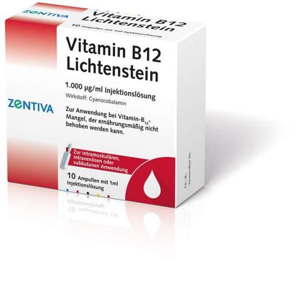 Vitamin B12 1000 µg Lichtenstein Ampullen 100 X 1 ml