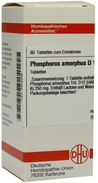 Phosphorus Amorphus D12 Tabletten 80 Tabletten