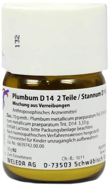 Weleda Plumbum D14 2 Teile Stannum D14 1 Teil