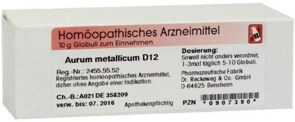 Aurum Metallicum D12 10 G Globuli