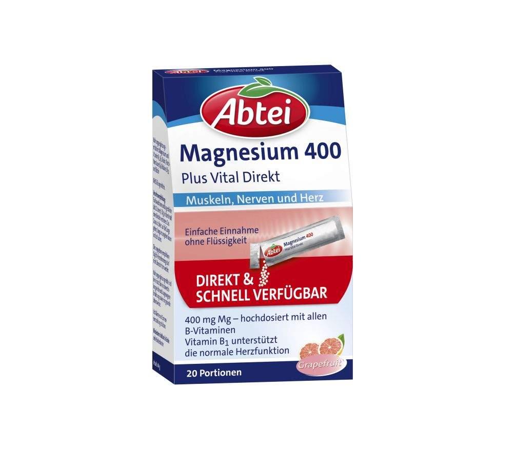 Abtei Magnesium 400 + Vitamin B Komplex Granulat